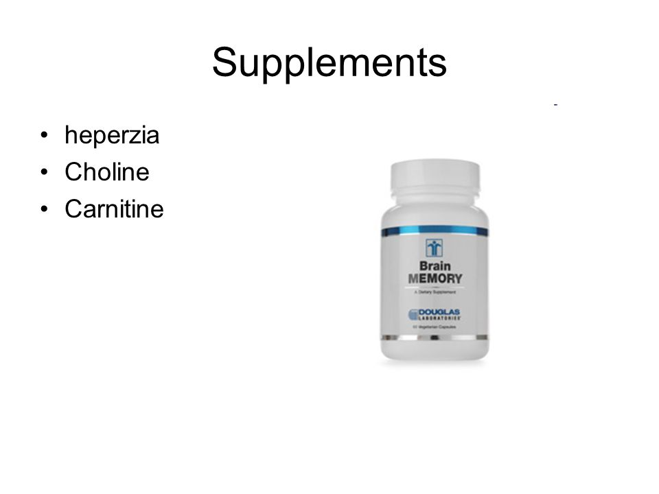 Supplements heperzia Choline Carnitine