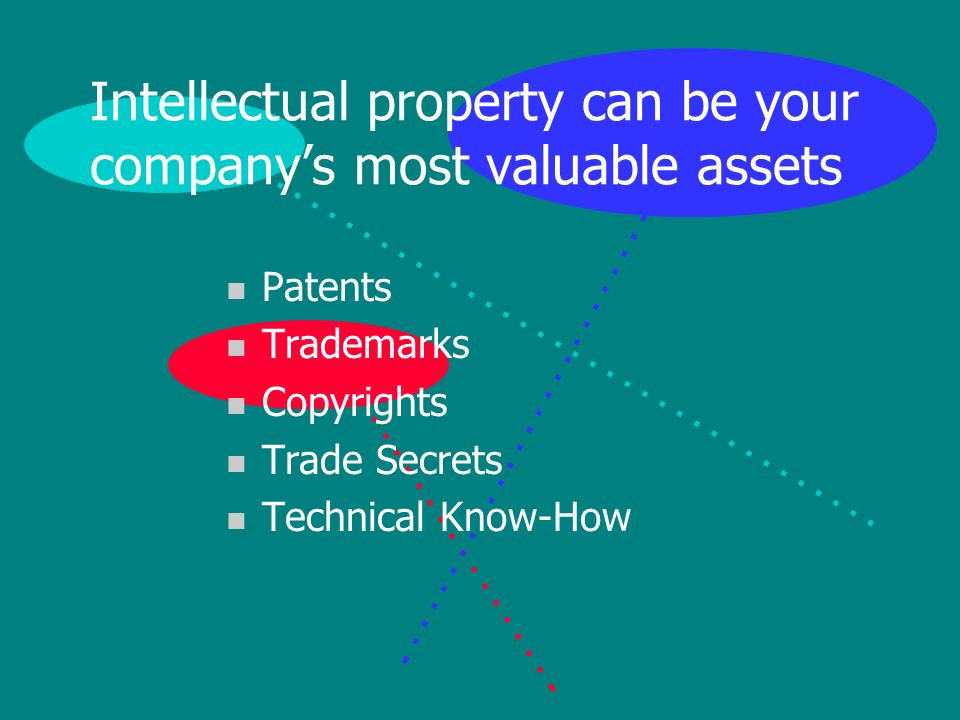 Conclusion n Intellectual property can be your most valuable assets n Make sure you know what your IP comprises n And that youve taken appropriate steps to protect it n Written license agreements are one good way to commercially exploit your intellectual property n Including: your technology, patents, trademarks, copyrights, trade secrets and technical know-how