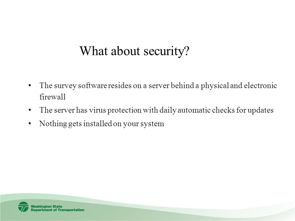 What about security.