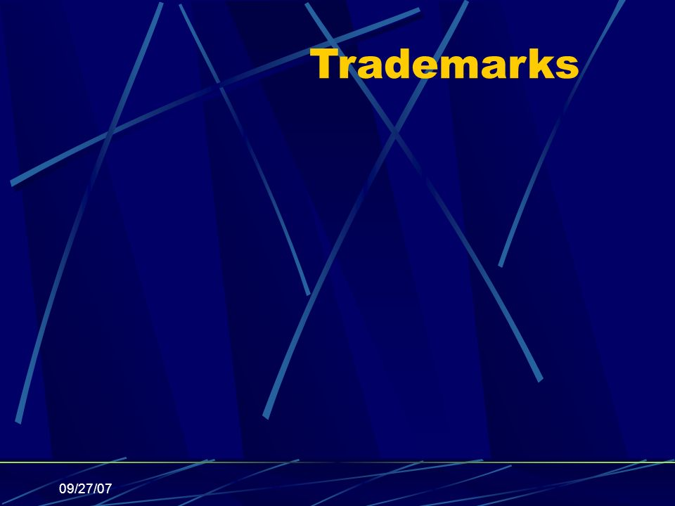 09/27/07 Trademarks
