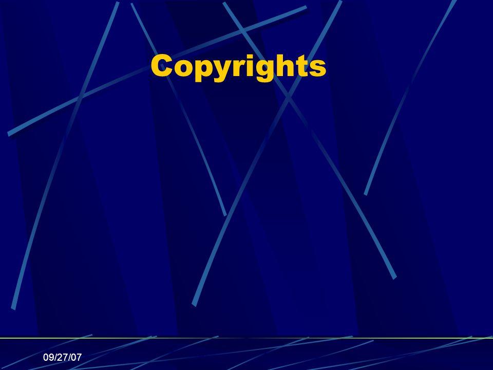 09/27/07 Copyrights