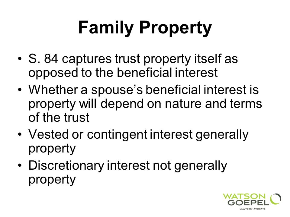 Family Property S.