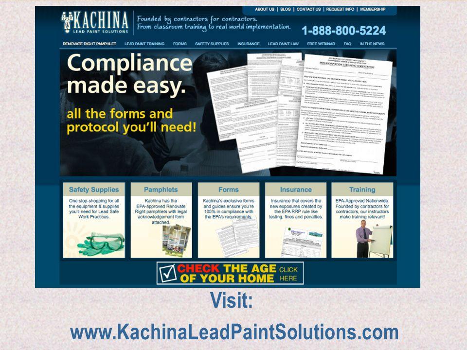 Visit: www.KachinaLeadPaintSolutions.com