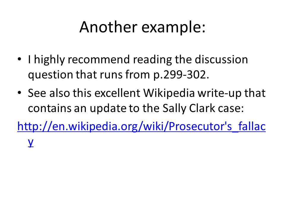 Another example: I highly recommend reading the discussion question that runs from p.299-302.