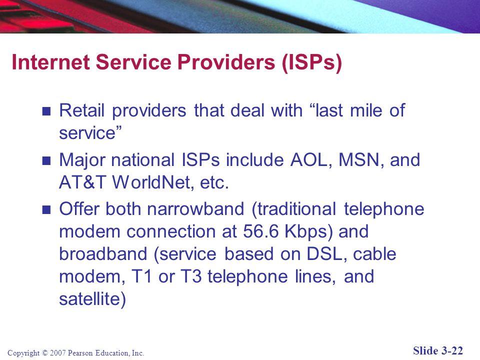 Copyright © 2007 Pearson Education, Inc. Slide 3-21 Internet Network Architecture Figure 3.12, Page 133