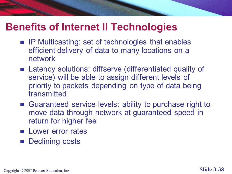 Copyright © 2007 Pearson Education, Inc. Slide 3-37 Wireless Local Area Network Hotspots Figure 3.17, Page 153