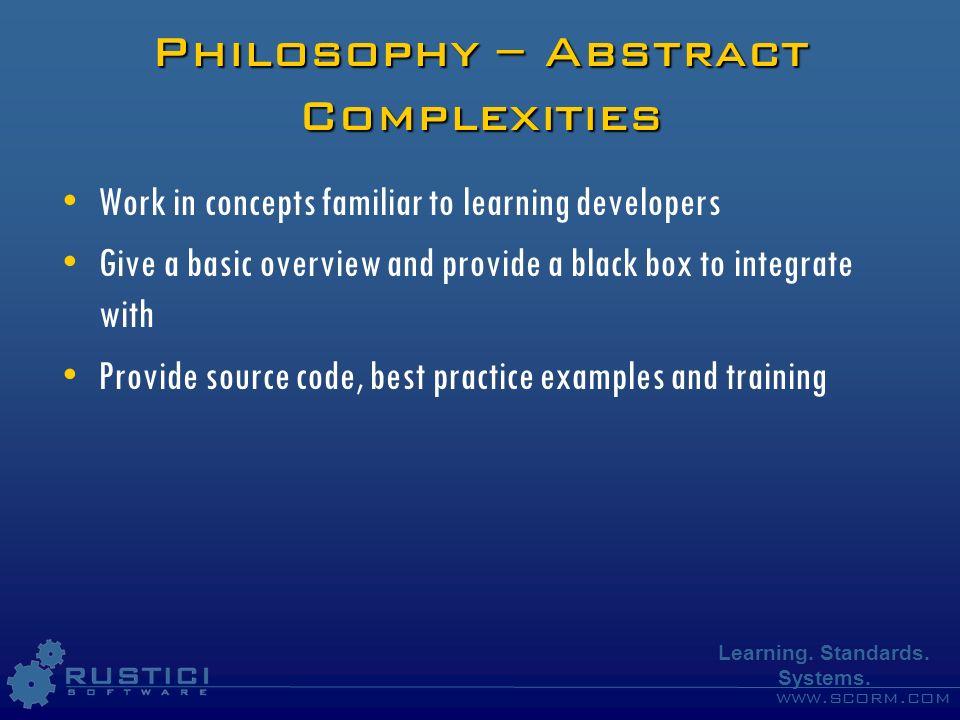 www.scorm.com Learning.Standards. Systems.
