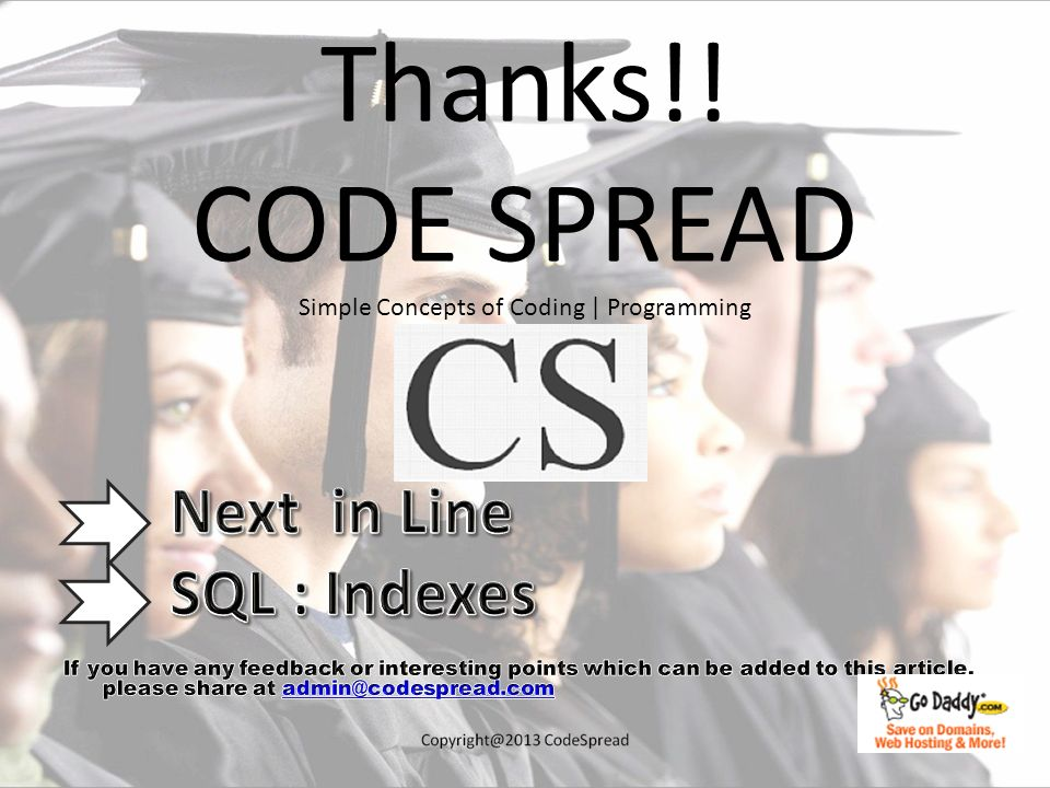 Thanks!! CODE SPREAD Simple Concepts of Coding | Programming