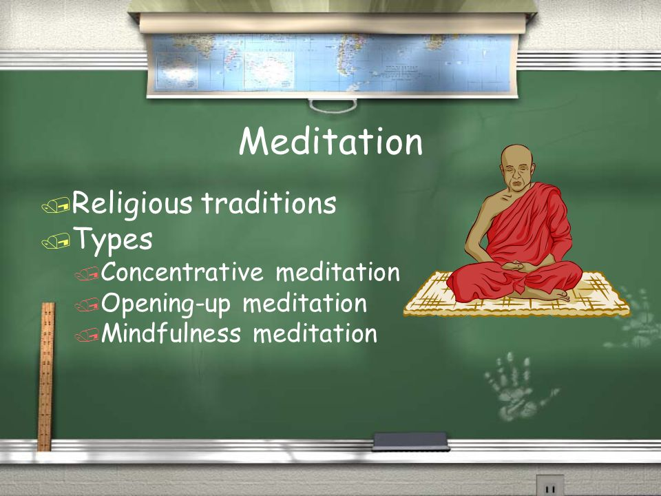 Meditation / Religious traditions / Types / Concentrative meditation / Opening-up meditation / Mindfulness meditation / Religious traditions / Types /