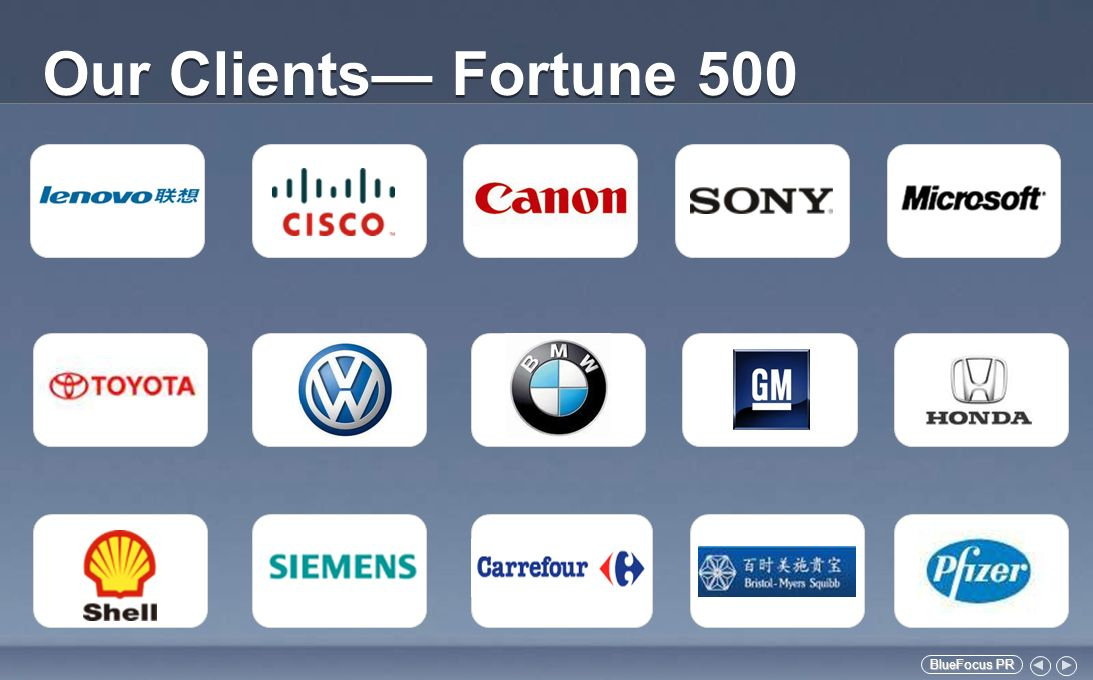 BlueFocus PR BlueFocus PR Our Clients Fortune 500