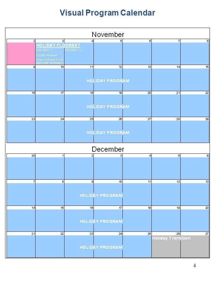 4 Visual Program Calendar