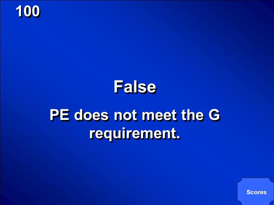 © Mark E. Damon - All Rights Reserved 100 True or False? PE is a College Prep Elective. True or False? PE is a College Prep Elective.