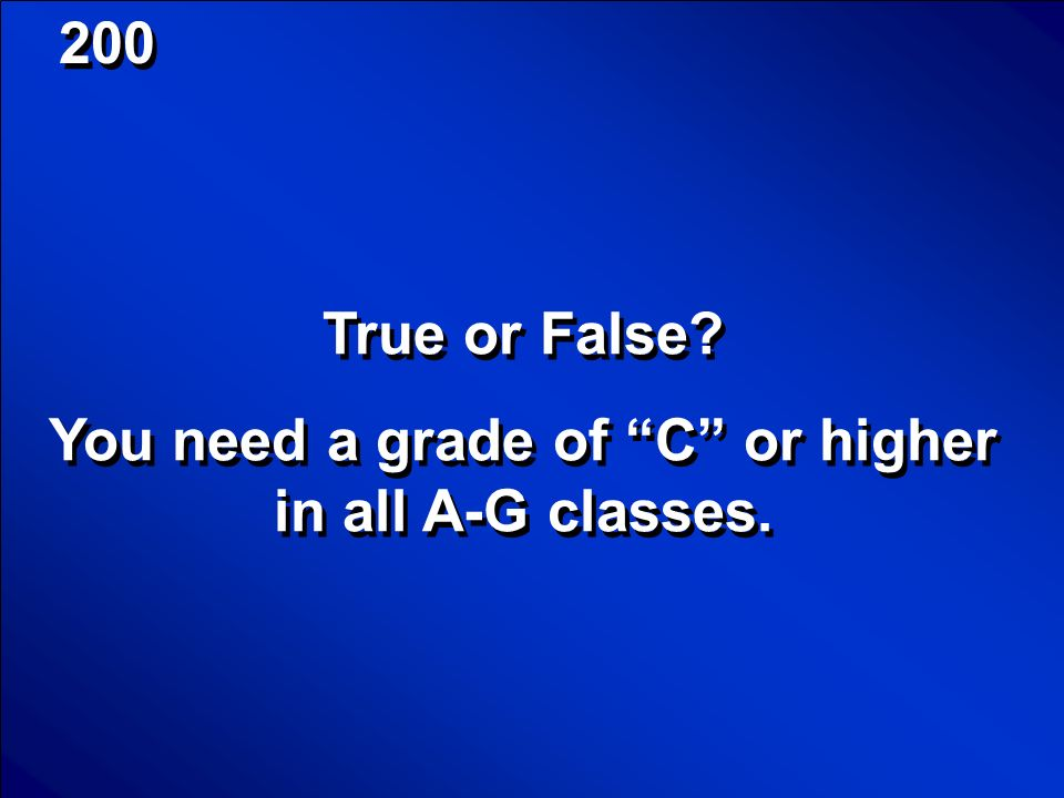 © Mark E. Damon - All Rights Reserved 100 Scores False PE does not meet the G requirement.