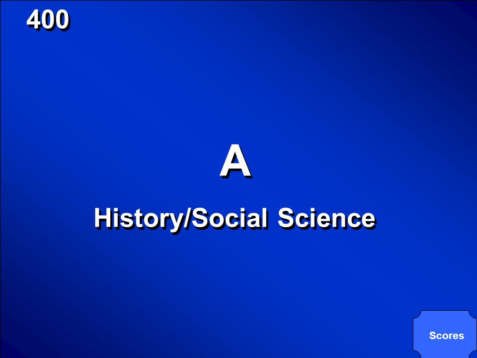 © Mark E. Damon - All Rights Reserved 400 Which A-G could it be? US History Which A-G could it be? US History