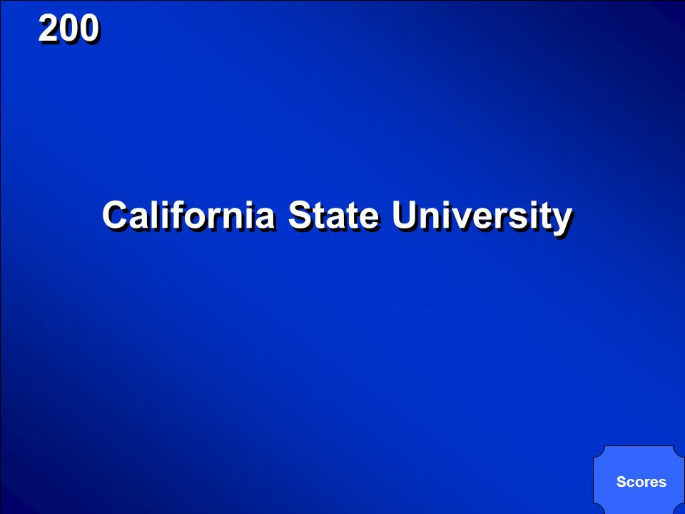 © Mark E. Damon - All Rights Reserved 200 CSU is an abbreviation for these campuses