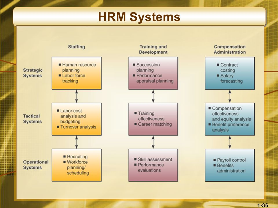 1-36 HRM Systems