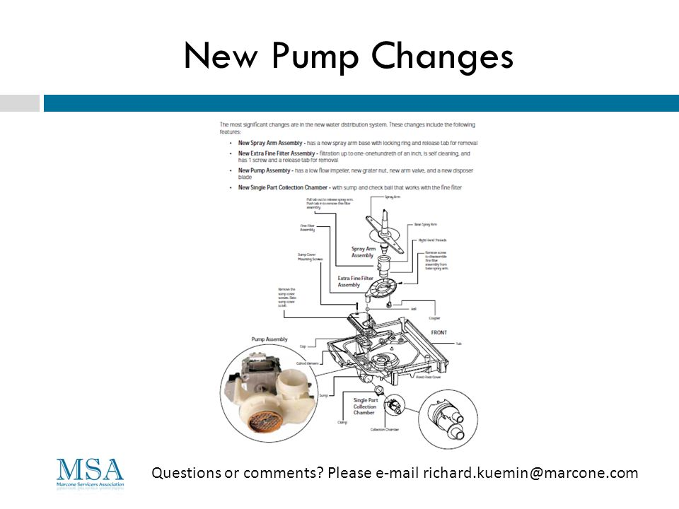 New Pump Changes Questions or comments? Please e-mail richard.kuemin@marcone.com