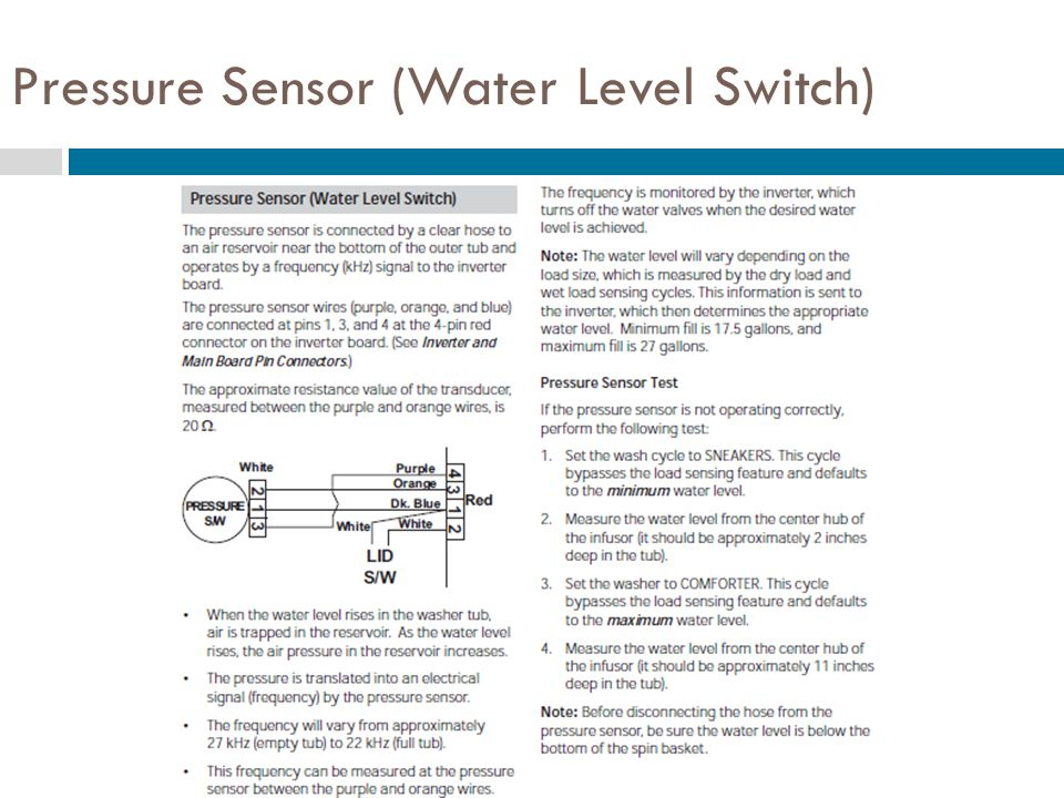 Pressure Sensor (Water Level Switch)