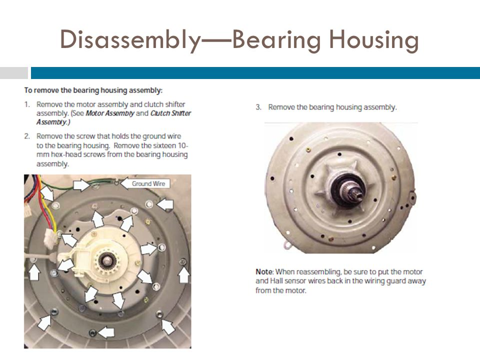 DisassemblyBearing Housing