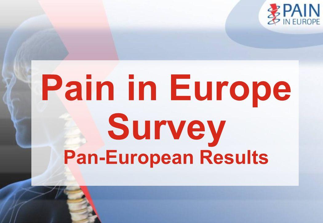 Pain in Europe Survey Pan-European Results