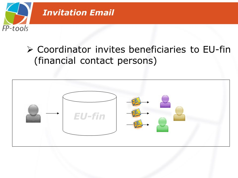 EU-fin Coordinator invites beneficiaries to EU-fin (financial contact persons) Invitation Email