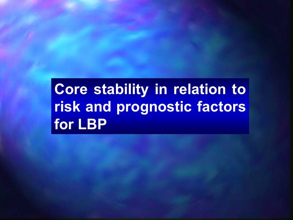 Description CS compared to: ResultNote O'Sullivan et al., 1997 CLBP (spondylolysis or spondylolisthesis) General practitioner care CS better Hides et