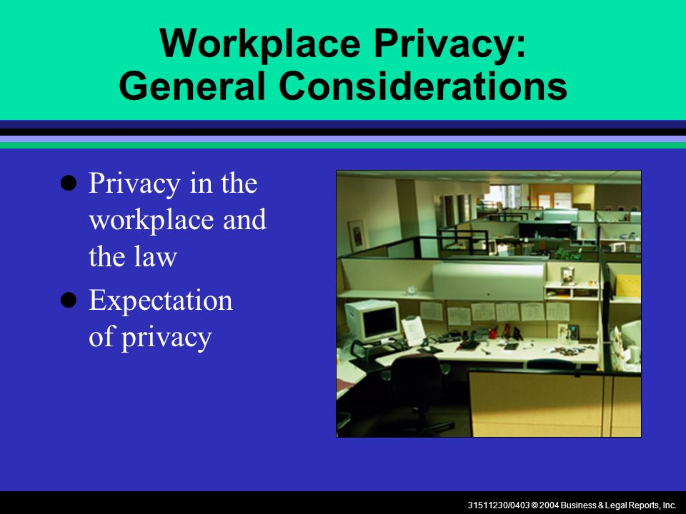 31511230/0403 © 2004 Business & Legal Reports, Inc.