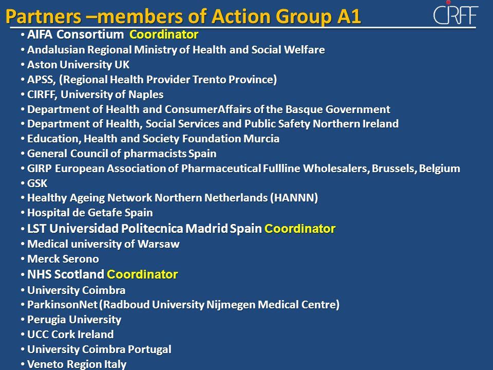 AIFA Consortium Coordinator AIFA Consortium Coordinator Andalusian Regional Ministry of Health and Social Welfare Andalusian Regional Ministry of Heal