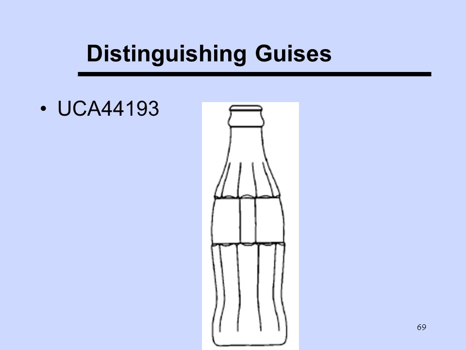 69 Distinguishing Guises UCA44193