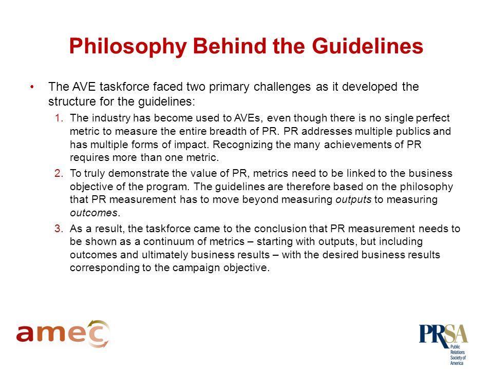 Understanding the Valid Metrics Guidelines