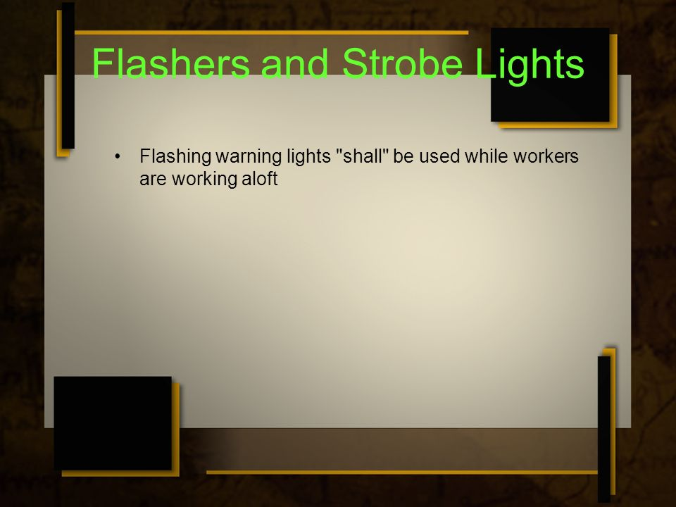 Flashers and Strobe Lights Flashing warning lights