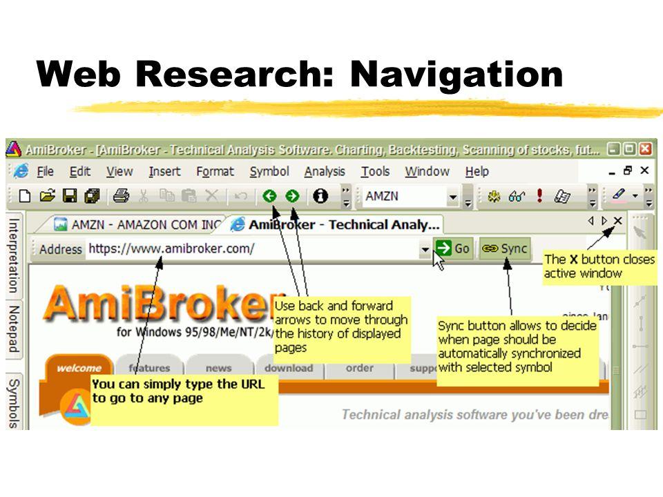 Web Research: Navigation