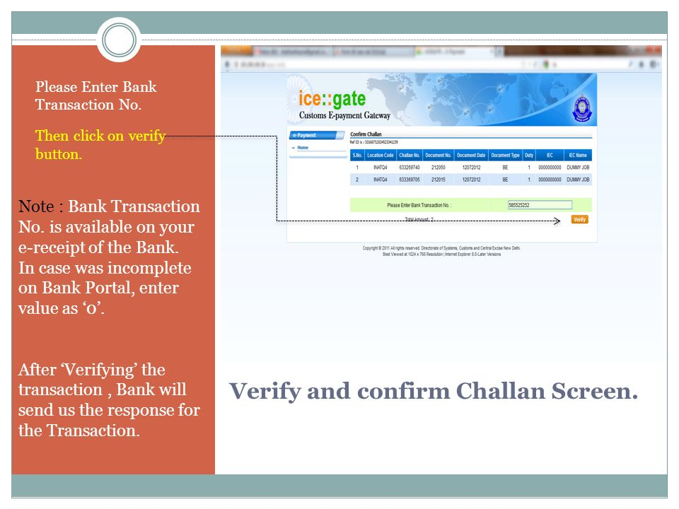 2. Incomplete Transaction page. Here, you can see List of incomplete transactions.