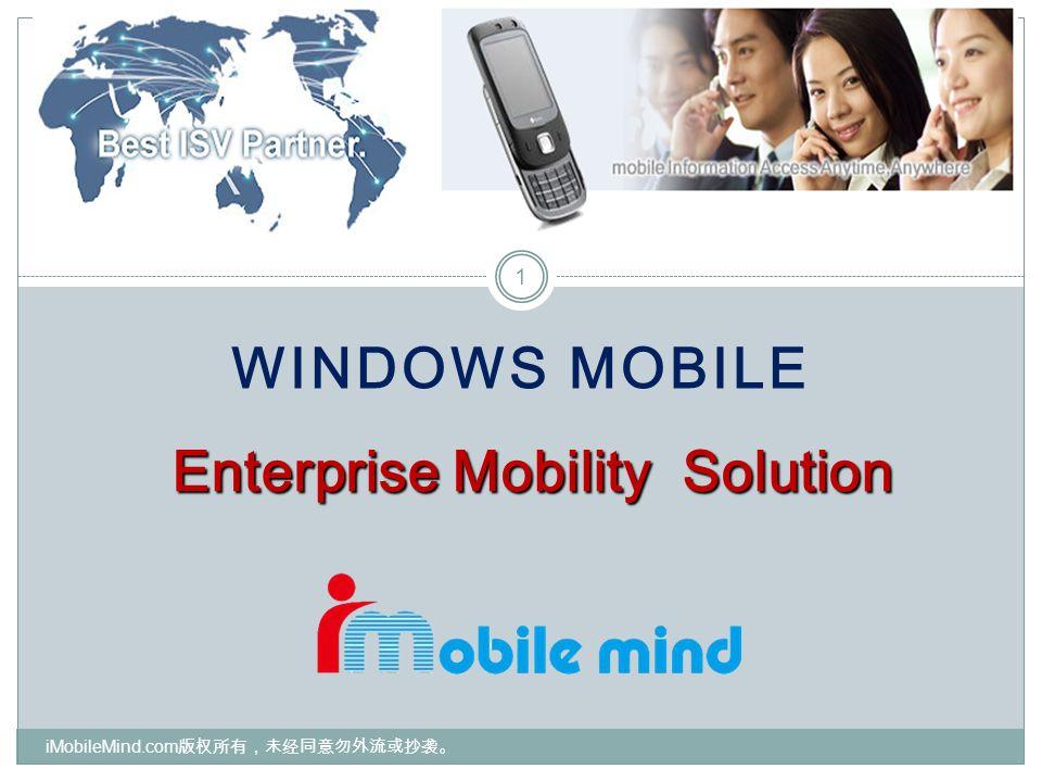 WINDOWS MOBILE 1 Enterprise Mobility Solution iMobileMind.com