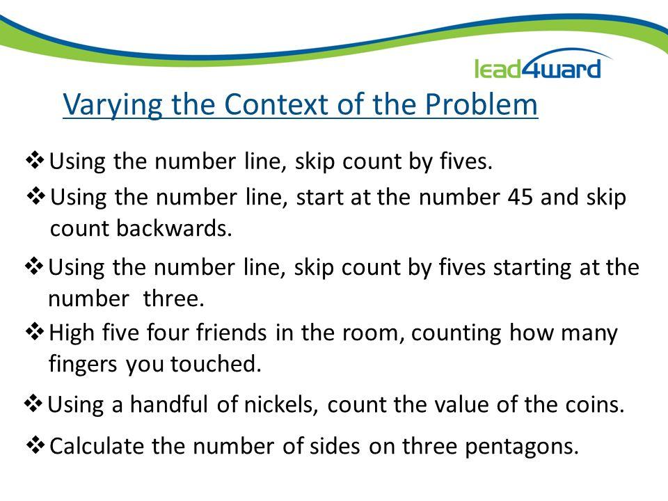 Varying the Context of the Problem (RAH)² (AH)³ + [ROMA (1+MA)] + (GA)² + (OOH)(LA)²