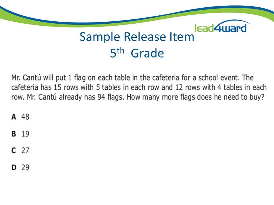 Sample Release Item 4 th Grade