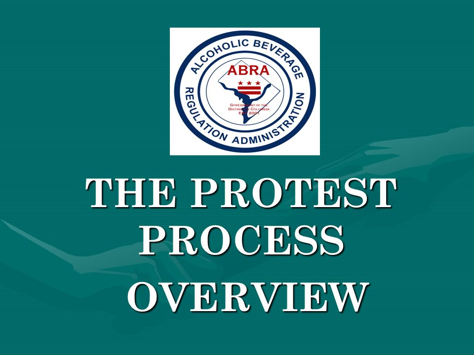 THE PROTEST PROCESS OVERVIEW OVERVIEW