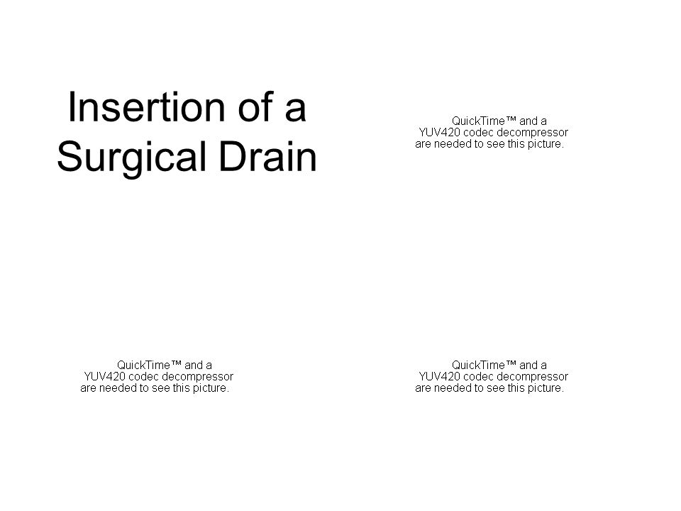 Insertion of a Surgical Drain