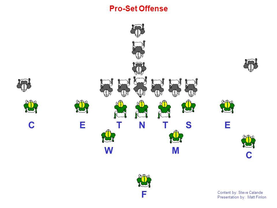 Content by: Steve Calande Presentation by: Matt Finlon NTTEEC C F WM S Pro-Set Offense