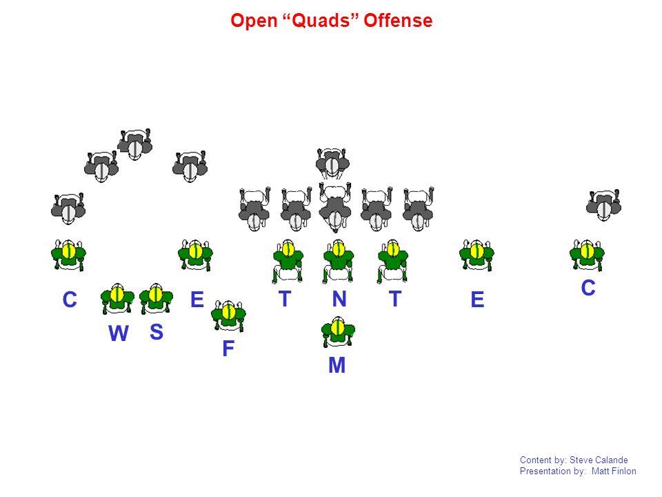 Content by: Steve Calande Presentation by: Matt Finlon NTT EEC CF W MS Open Quads Offense