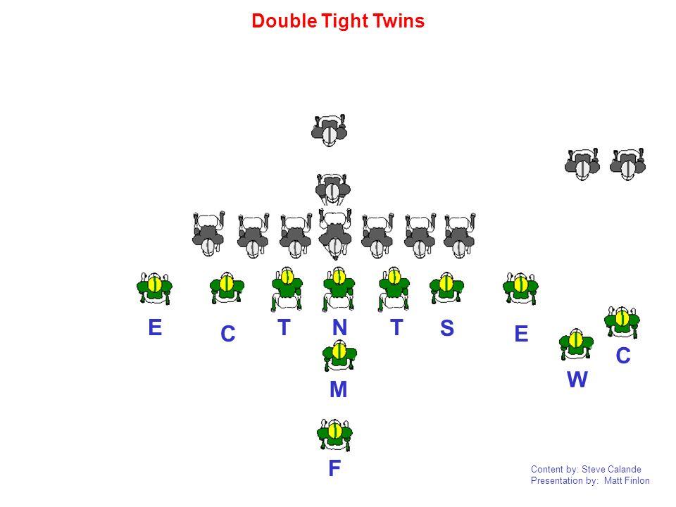 Content by: Steve Calande Presentation by: Matt Finlon NTT E E CF W M S C Double Tight Twins