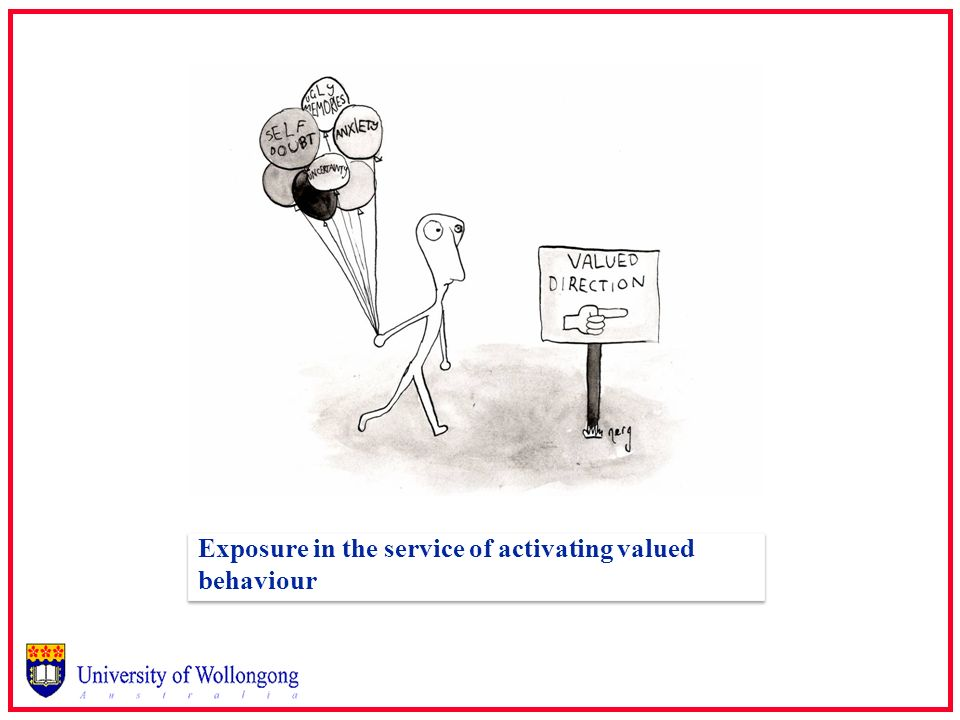 Exposure in the service of activating valued behaviour