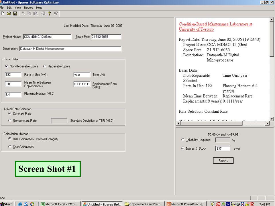 Current GUI Screen Shot #1