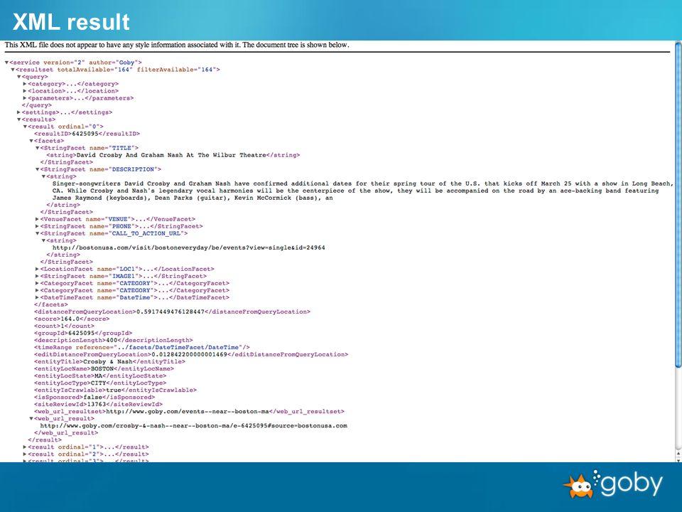 XML result