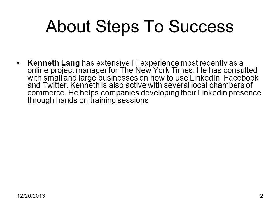 12/20/20133 What is LinkedIn.
