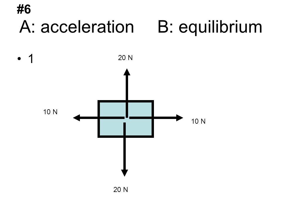 A: acceleration B: equilibrium 1 20 N 10 N #6