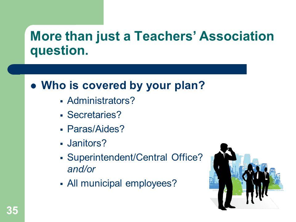 35 More than just a Teachers Association question.