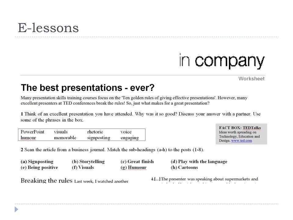 E-lessons