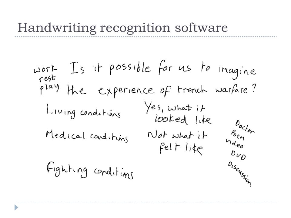 Handwriting recognition software
