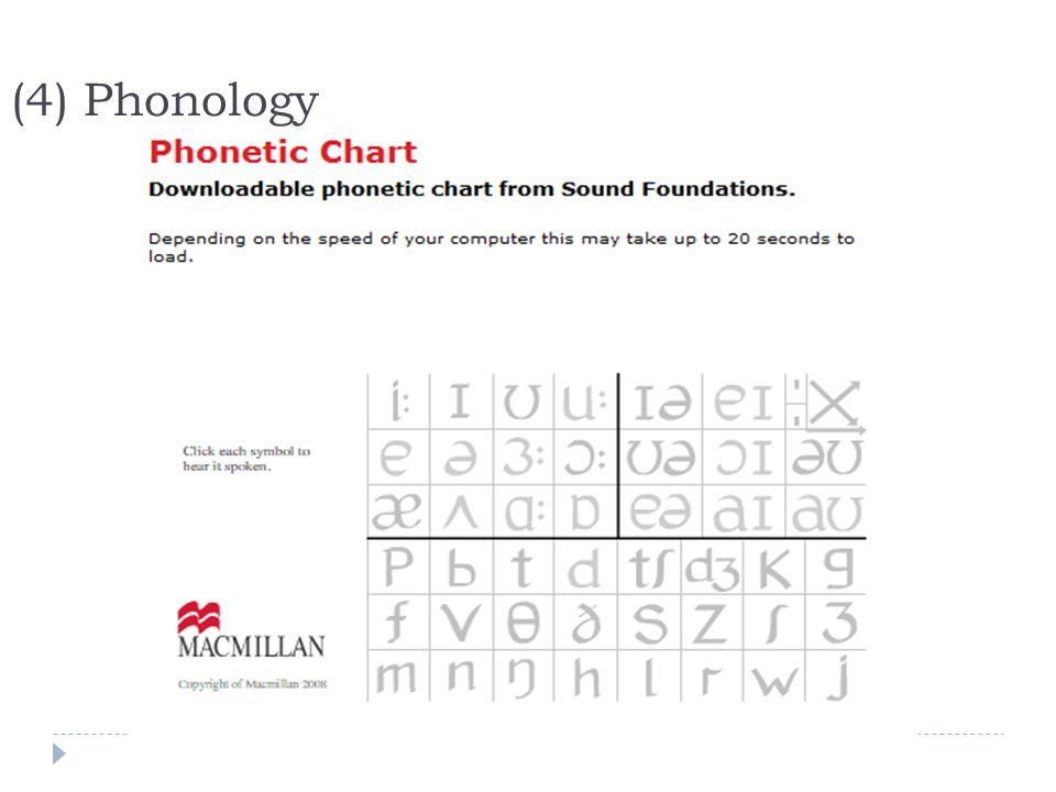 (4) Phonology